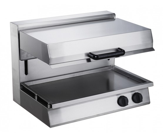 Electric rise and fall salamander grill
