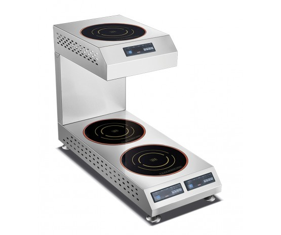 3 single multiplate induction hob