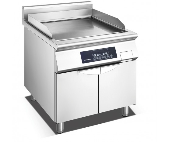 2/3 flat 1/3 ribbed induction griddle with cabinet