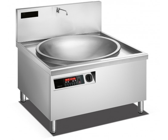 1000 mm Induction large wok griddle-digital control and programs
