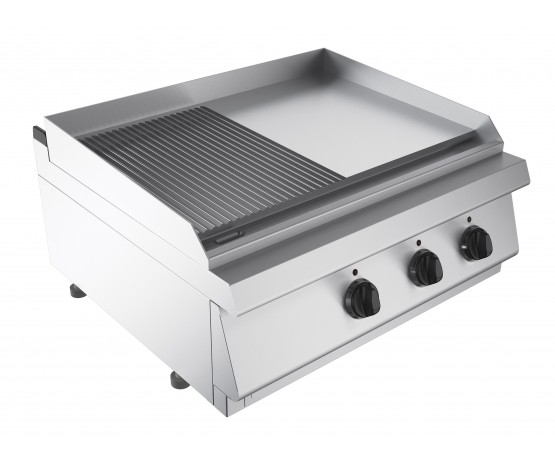 Griddle 1/2 smooth 1/2 ribbed, counter top