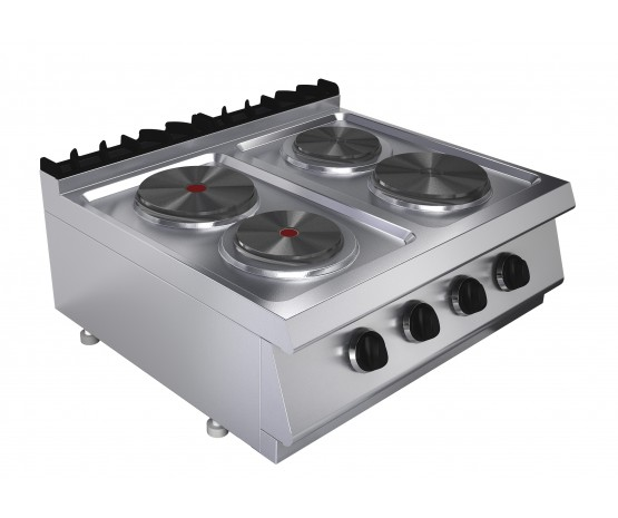 Boiling top, 4 plates, counter top