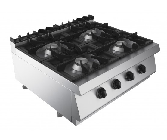 Boiling top, 4 burners, counter top