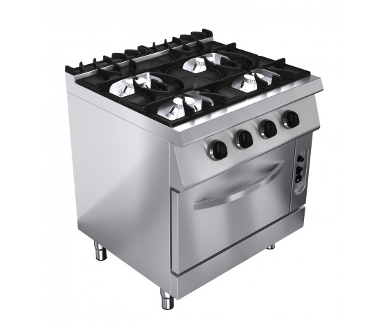 Gas oven range, 4 burners