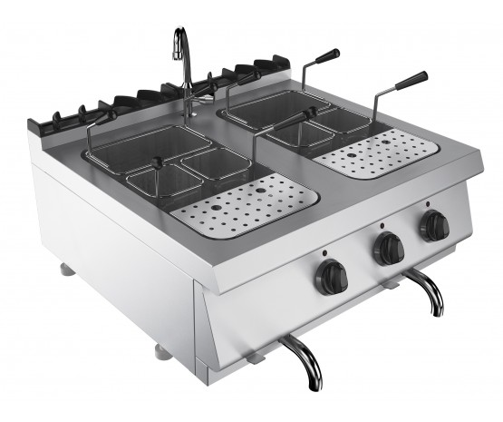 Pasta cooker - twin tank, counter top