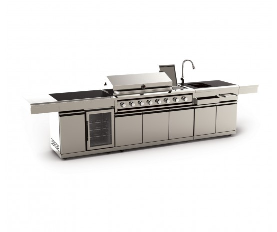 BBQ suite-gas bbq, sink and wine cooler + cabinets